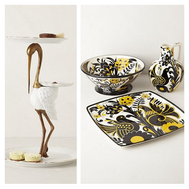 Anthropologie Gilded Cake Stand