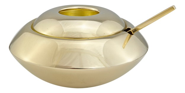 Tom Dixon Form Sugar Dish & Spoon Gold Brass