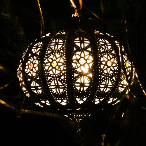 Kew Gardens Christmas illuminated trail - lanterns, colourful Moroccan
