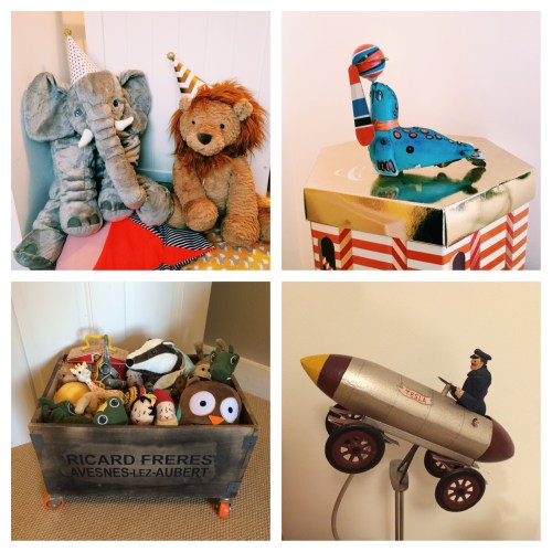 Circus Lion Elephant toys retro vintage rocket car balancing tin vintage seal industrial toy crate