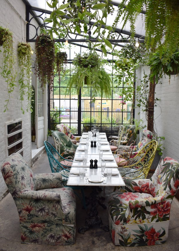 Bourne & Hollingsworth Buildings London restaurant interiors bloggers guide botanical bohemian decor (2)
