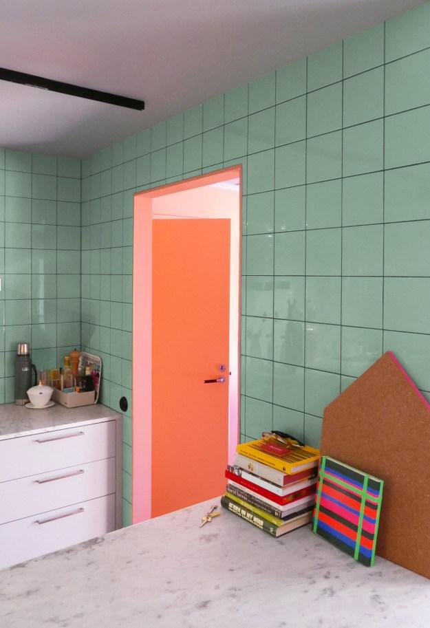 PINK inspiration in design and architecture, ideas for using pink interiors -Heckscher Note Design Studio kitchen