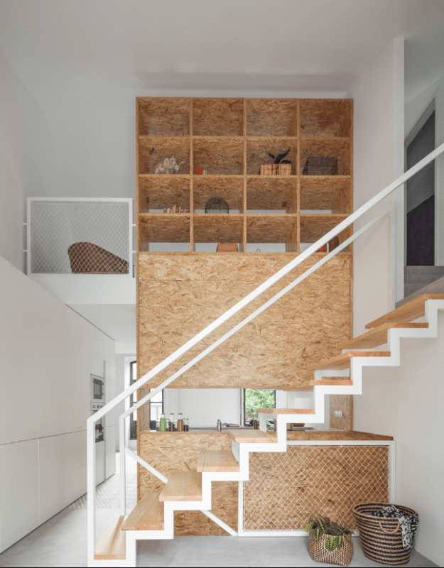 Cork stairs interior design, cork interiors trend ideas, uses and inspration in interior design and home decor