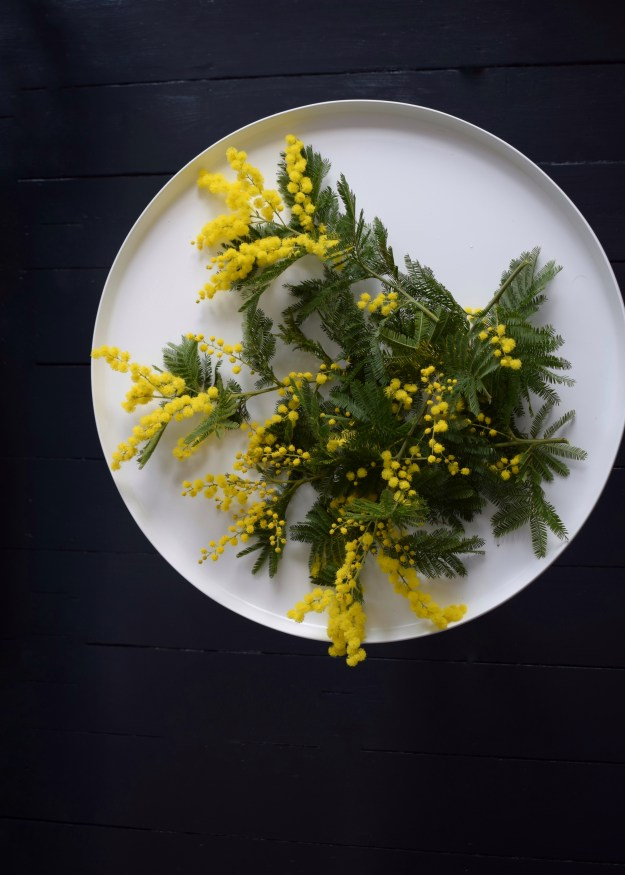 Spring easter craft how to make spring flower wreath scandinavian fragrant simple decoration mimosa