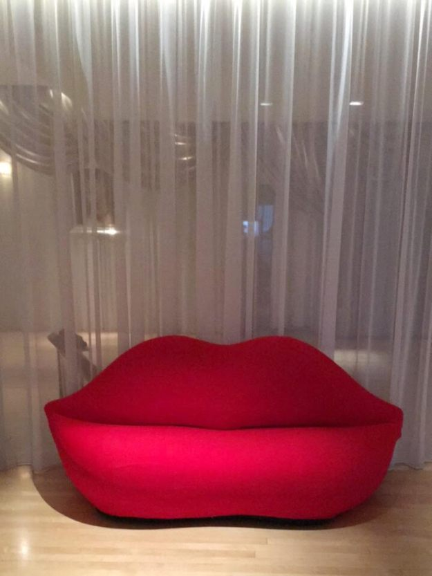 Sanderson London Design Hotel philippe starck mae west lips settee sofa