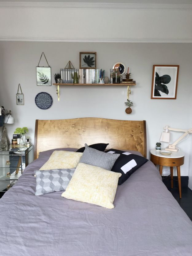 using textiles to create mood in an interior scheme, scandinavian geometric decor, greys and yellow, linen