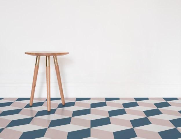 Atrafloor Cube Patterned Vinyl Flooring options, ideas and inspiration for interior decor