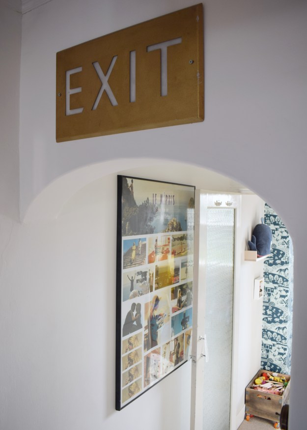 Bohemian geometric, Scandinavian gallery wall white hallway makeover project, revamp, Restyle, reveal, (3)