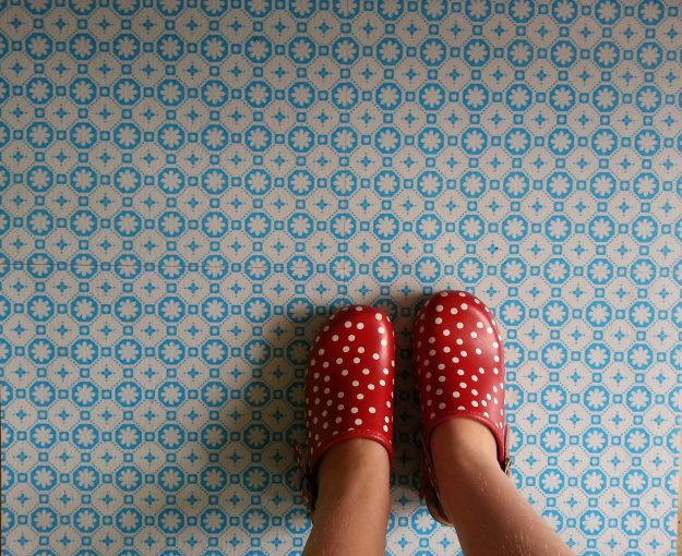 Feature Floors Rose-Des-Vents-Blue-Patterned Vinyl Flooring options, ideas and inspiration for interior decor