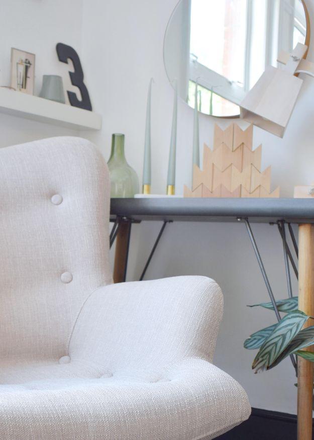 Sloane & Sons Angel Wingback mid century scandinavian Chair Artemis Beige rustic white bedroom (7)