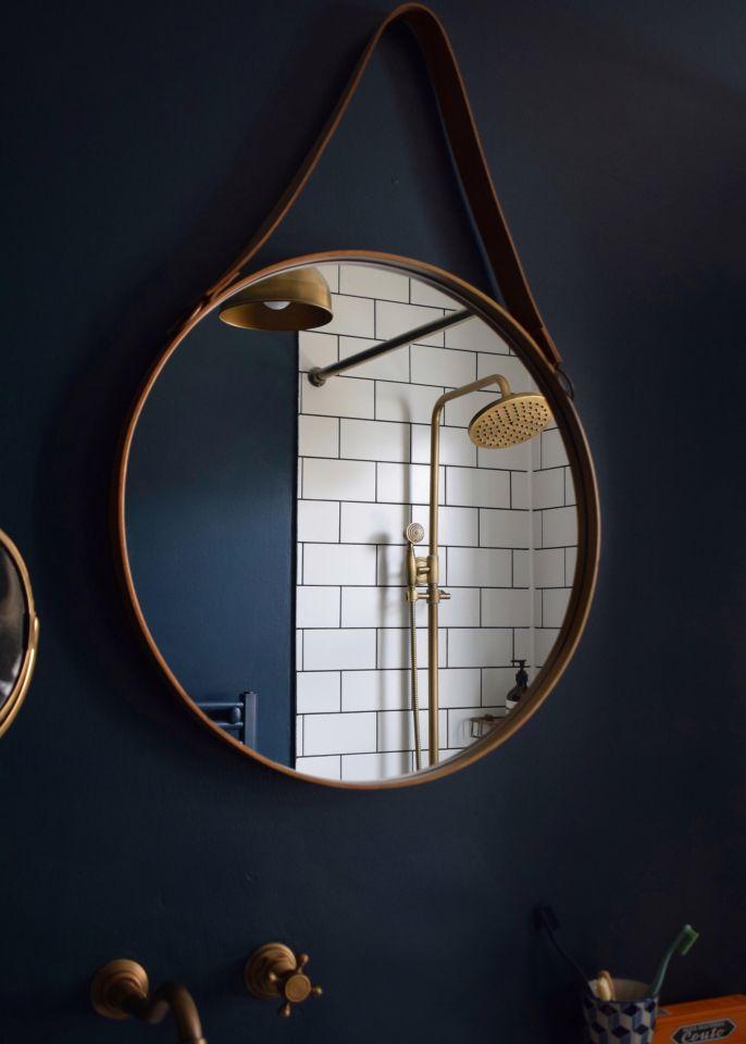 Hague blue metro tiles brass fittings bathroom (2)