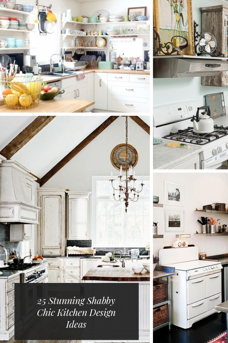 25 Stunning Shabby Chic Kitchen Design Ideas #kitchen #shabbychic