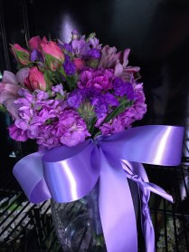A toss bouquet for a wedding reception! Congratulations to the happy couple!