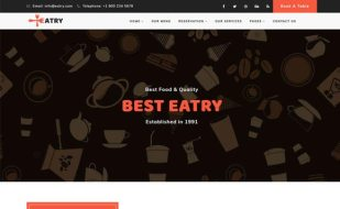 free website template for food