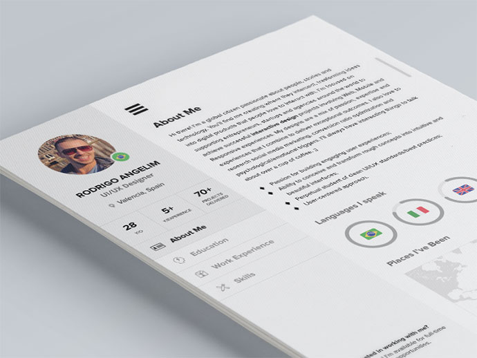 85  Free  CV  Indesign Resume Templates in Ai  HTML   PSD Formats 28 Indesign Resume Templates
