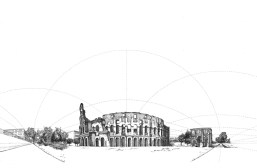 Curvilinear perspective Colosseum