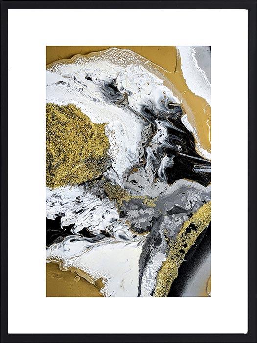 Abstract-gold-noir