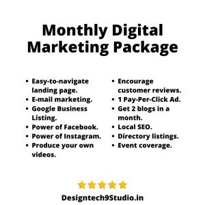 Monthly Digital Marketing Package