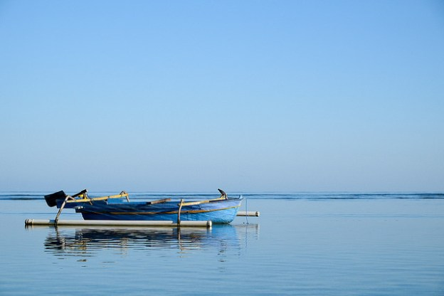 Blue morning. Gili Air