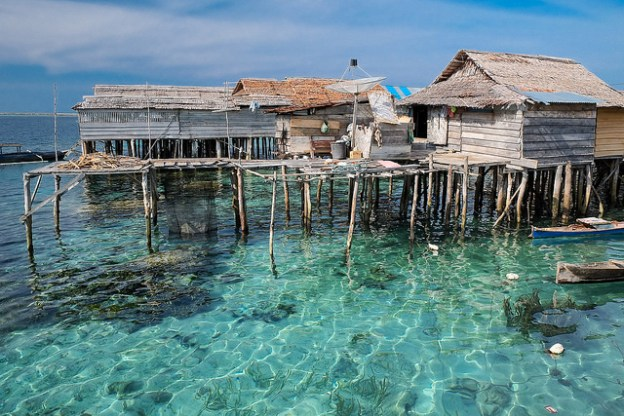 Stilt village of Pulau Papan, Malenge Island.
