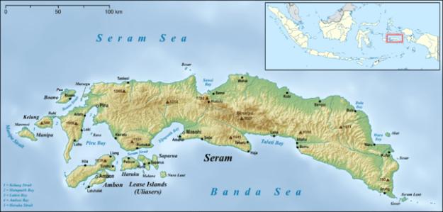 Map of Pulau Seram