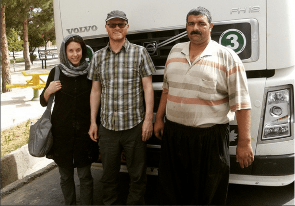 This Iranian truck driver gave us a lift when our car broke down in the desert.