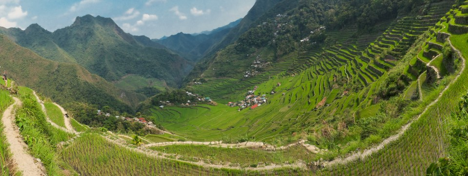 The Batad rice terraces from the viewpoint.
