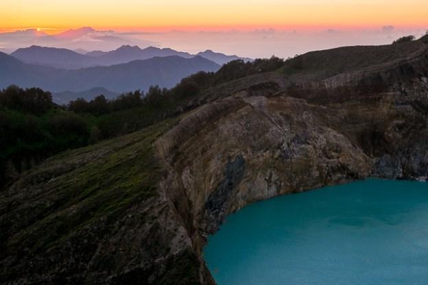 Kelimutu crater sunrise, Flores