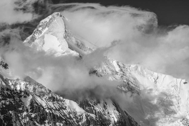 Khan Tengri from South Inylchek Glacier Base Camp