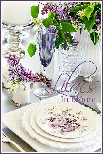 LILACS IN BLOOM-stonegableblog.com