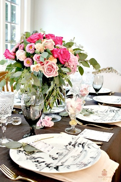 Romantic-French-Country-Summer-Table-setting & French Country Table Setting - J-ole.com