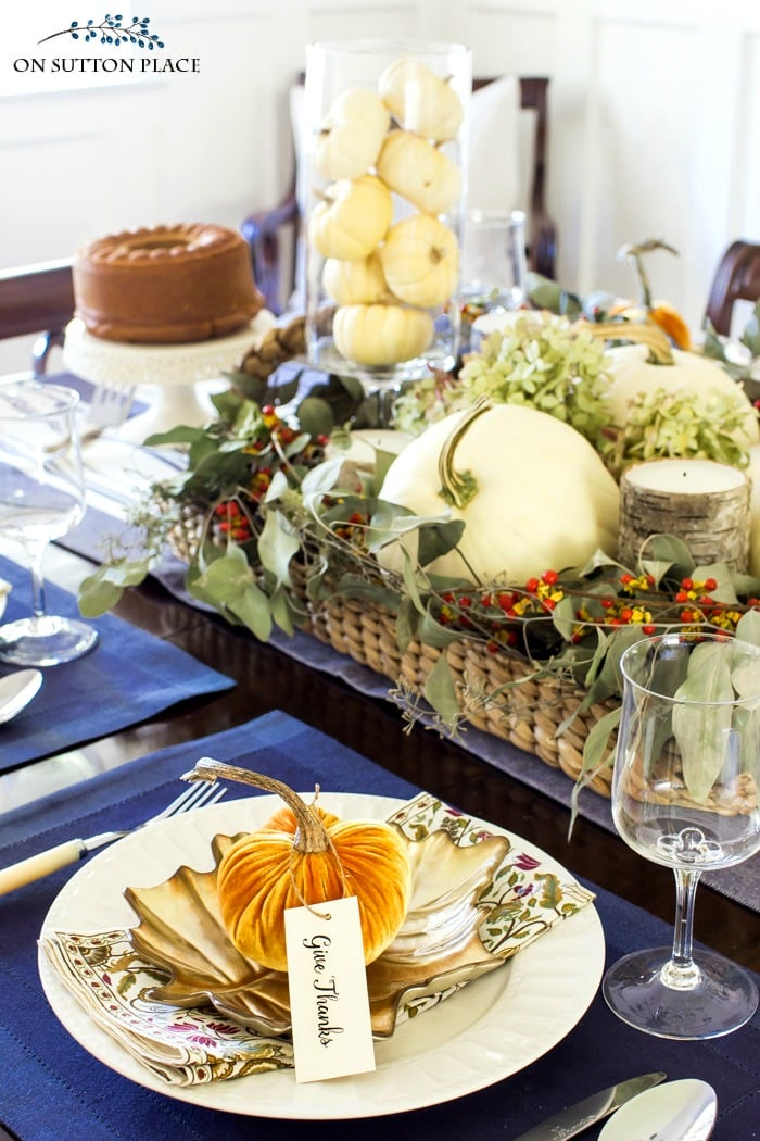 Home Style Saturdays Fall Tablescape from On Sutton Place