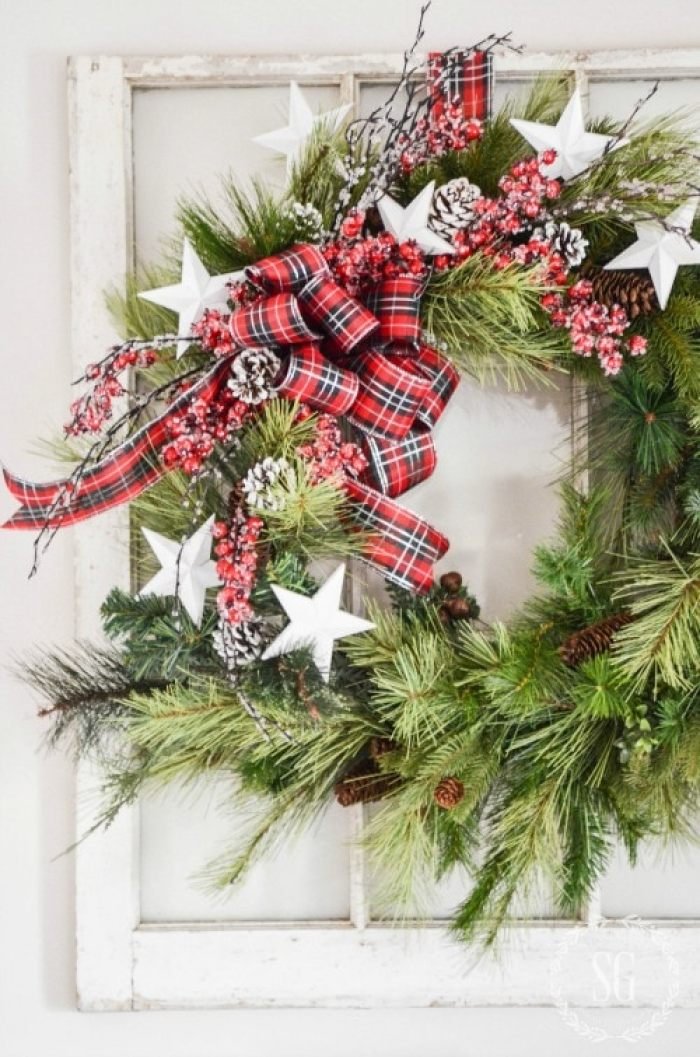 REPURPOSED WREATH-ready-for-Christmas-stonegableblog