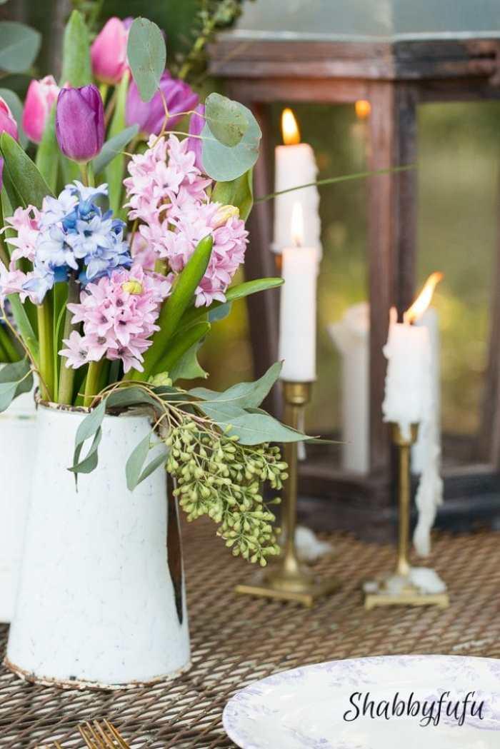 budget flower decorating - shabbyfufu