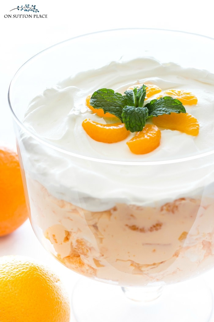 Orange Fluff Salad Recipe from On Sutton Place