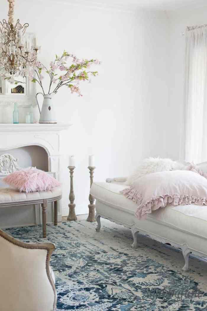 blush pink room decorating shabbyfufu.com