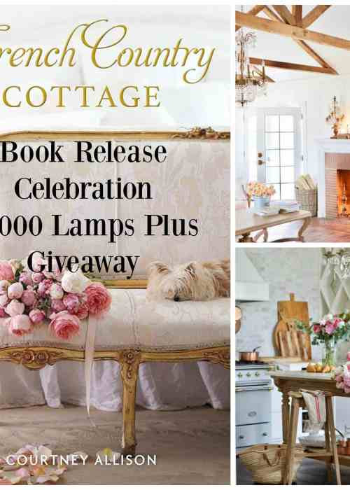 French Country Cottage Book collage