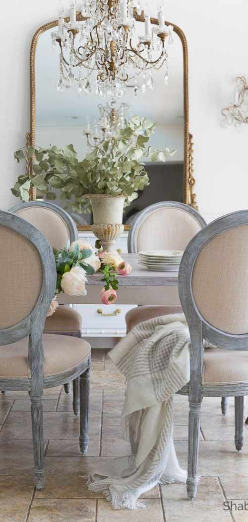 french country style dining room shabbyfufu