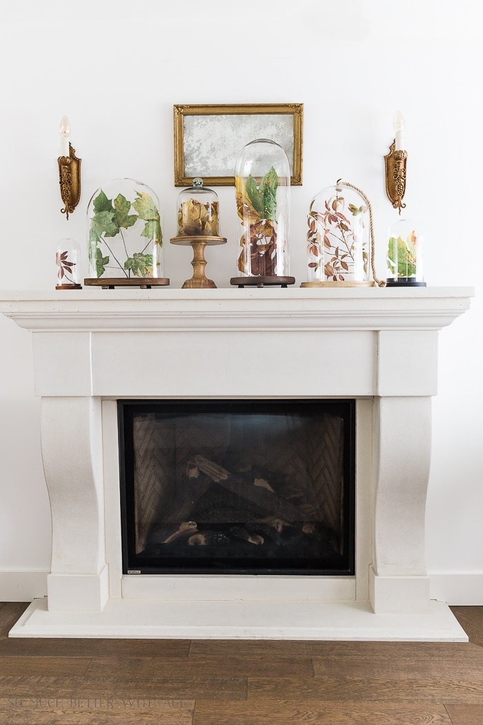 fall-leaves-in-cloches-on-mantel-101