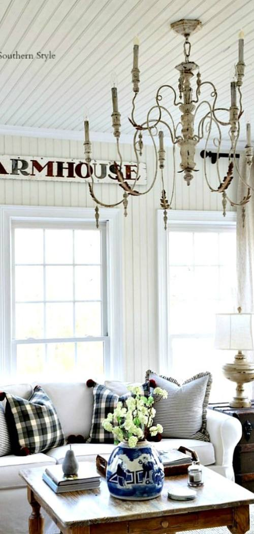 french farmhouse winter style sun room savvysouthernstylenet