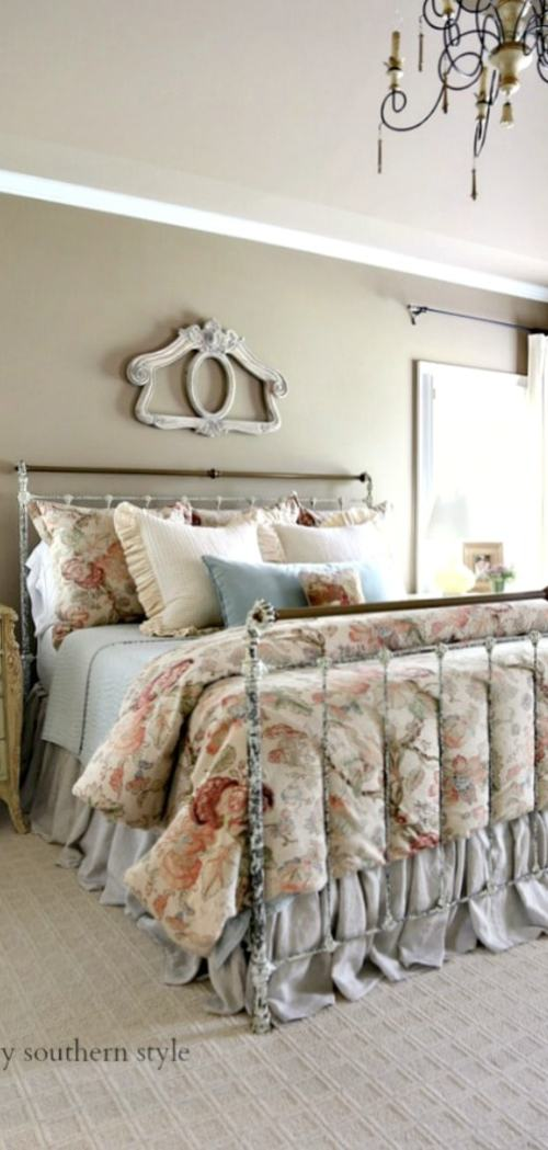 charles p rogers brass bed in master savvysouthernstyle.net