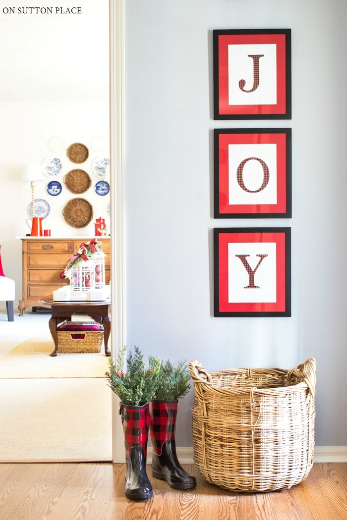 Joy Christmas Printables from On Sutton Place