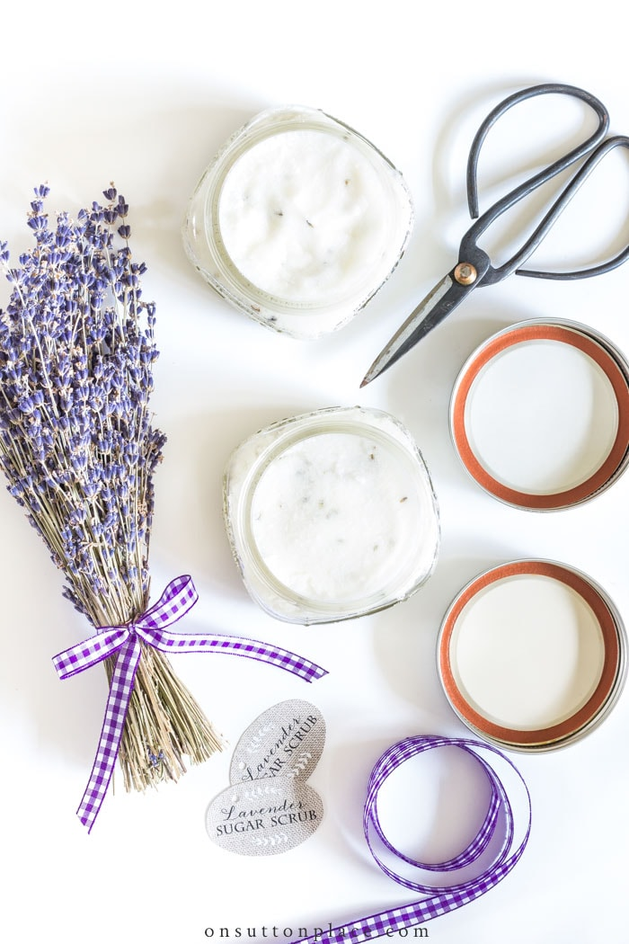 DIY Lavender Sugar Scrub from On Sutton Place