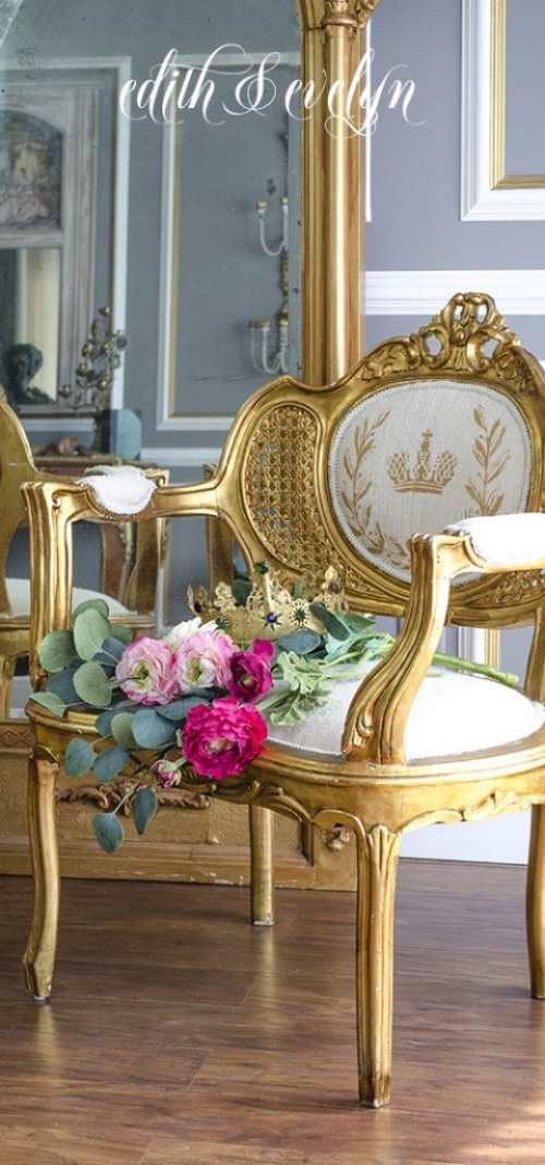 French Chair Makeover - E&E