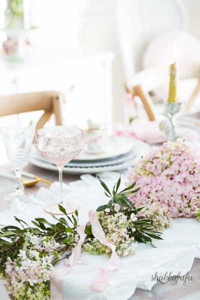 table setting spring flowers shabbyfufu