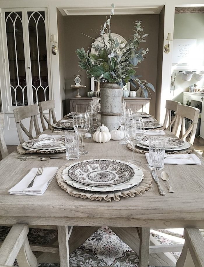 Fall Dining Room from My100YearOldHome