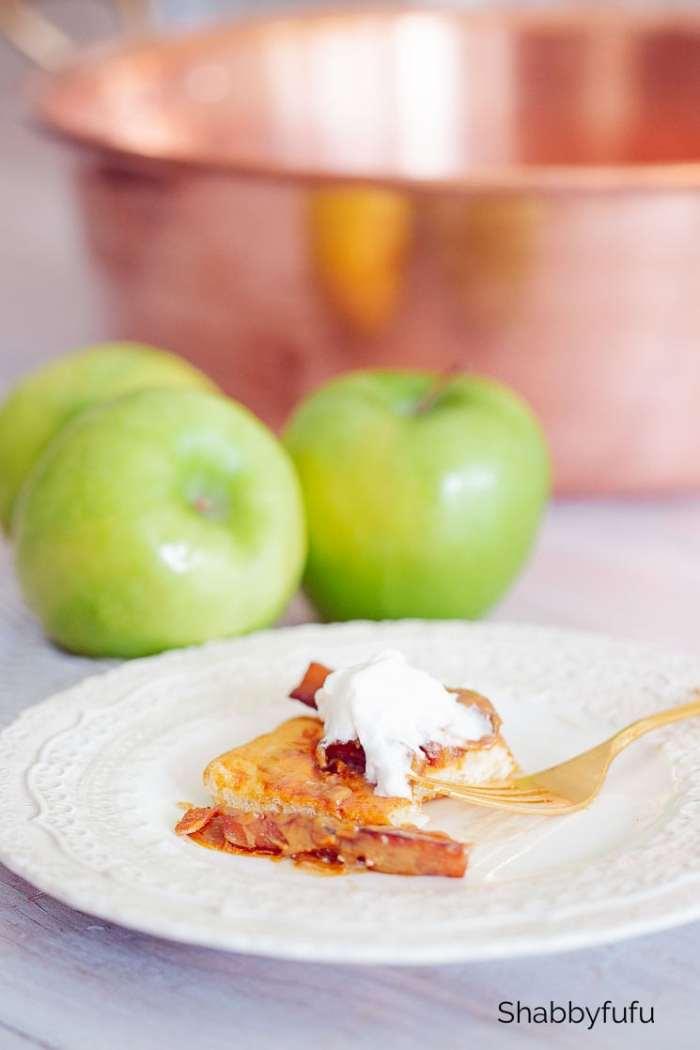 easy salted caramel apple tart shabbyfufu