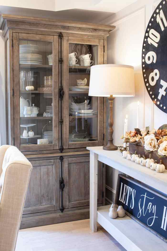 fall dining room sideboard from Home Made Lovely
