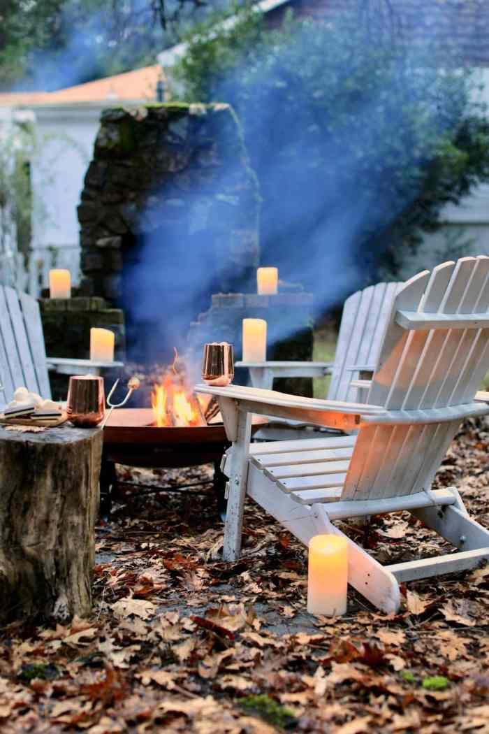 fire pit evening