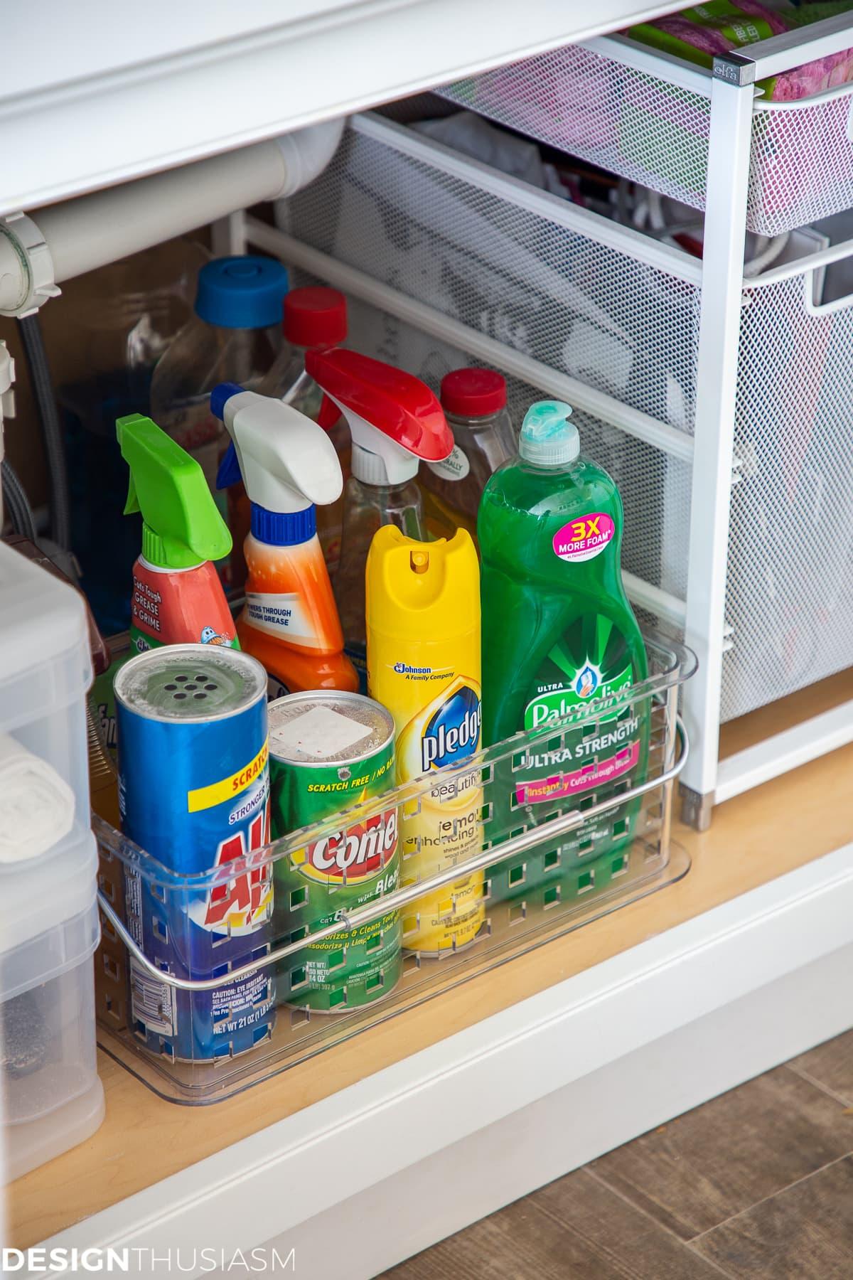 declutter your under sink storage